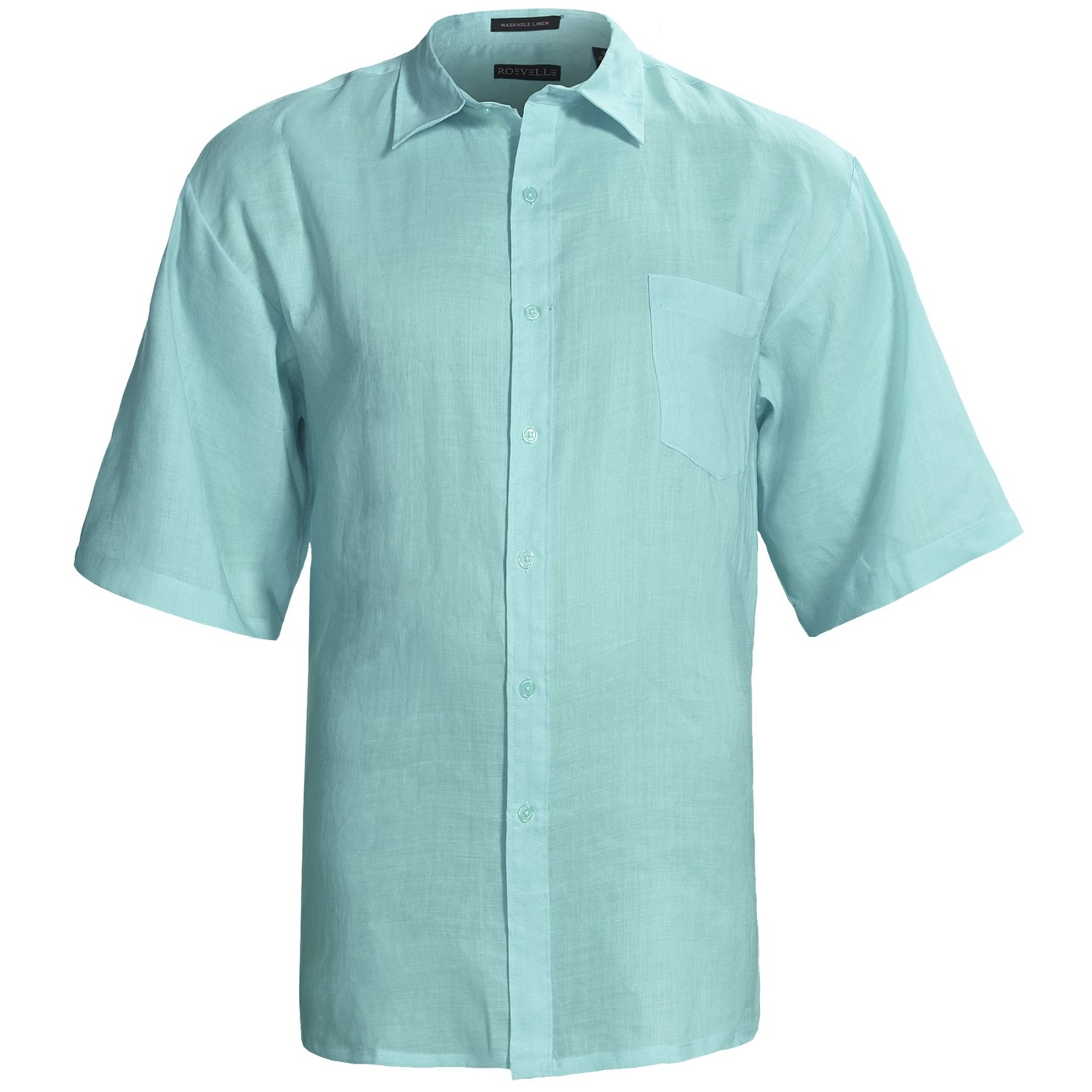 Washable Linen Shirt Short Sleeve For Big And Tall Men