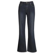 Washed Bootcut Jeans - Stretch Cotton (For Women) in Indigo - 2nds
