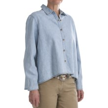 Washed Denim Shirt - Long Sleeve (For Women) in Light Blue - 2nds