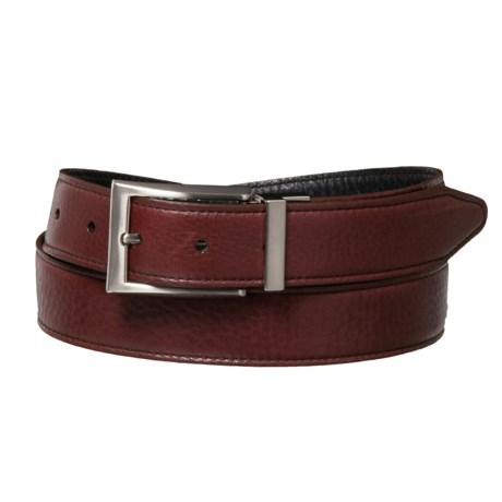 Washed Leather Belt - Reversible (For Men)