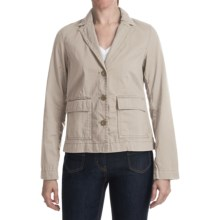 Washed Stretch Cotton Jacket (For Women) in Tan - 2nds