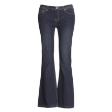 Washed Stretch Denim Jeans - 5-Pocket (For Women) in Indigo - 2nds