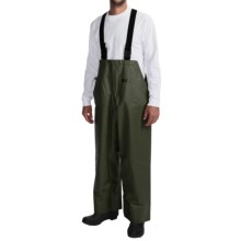 Waterproof Rain Bib Overalls (For Men) in Dark Green - Closeouts