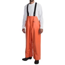 Waterproof Rain Bib Overalls (For Men) in Orange - Closeouts