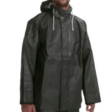 Waterproof Rain Parka (For Men) in Dark Green - Closeouts