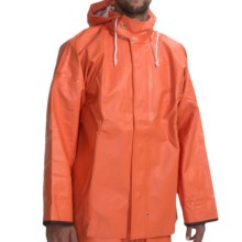 Waterproof Rain Parka (For Men) in Orange - Closeouts
