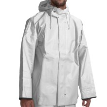 Waterproof Rain Parka (For Men) in White - Closeouts