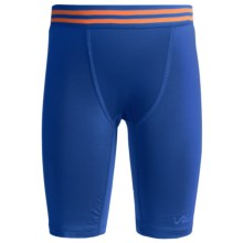 Watson's Compression Stretch Nylon Shorts (For Boys) in Speed Blue - Closeouts