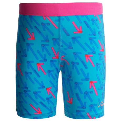 Watson's Compression Stretch Nylon Shorts (For Girls) in Arrow Print