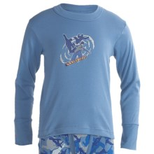 Watson's Cotton Long Underwear Top - Long Sleeve (For Boys) in Bright Cobat Print - Closeouts