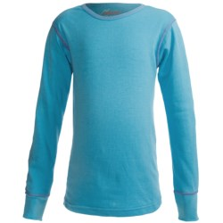 Watson's Double-Layer Base Layer Top - Heavyweight, Long Sleeve (For Girls) in Pale Blue
