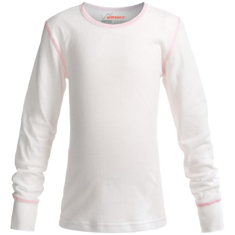 Watson's Double-Layer Base Layer Top - Heavyweight, Long Sleeve (For Girls) in White