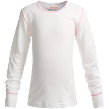 Watson's Double-Layer Base Layer Top - Heavyweight, Long Sleeve (For Little and Big Girls) in White - Closeouts