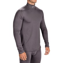 Watson's Mock Neck Base Layer Top - Long Sleeve (For Men) in Grey - Closeouts