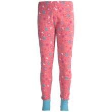 Watson's Printed Long Johns (For Girls) in Geranium Pink Print - Closeouts