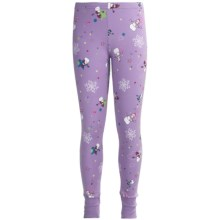 Watson's Printed Long Johns (For Girls) in Purple Snowmen - Closeouts