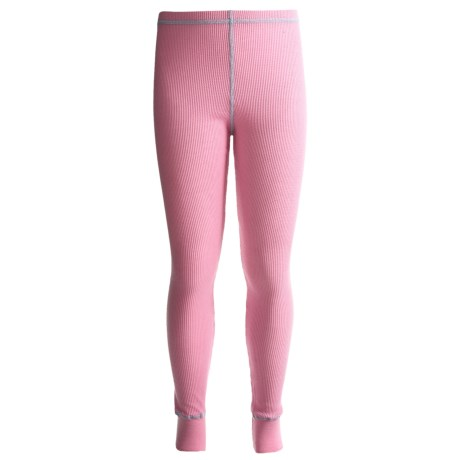 Watson's Thermal Waffle Base Layer Bottoms - Lightweight (For Girls) in Bubble Gum/Rose