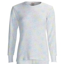 Watson's Waffle Base Layer Top - Long Sleeve (For Women) in White Flower Print - Closeouts