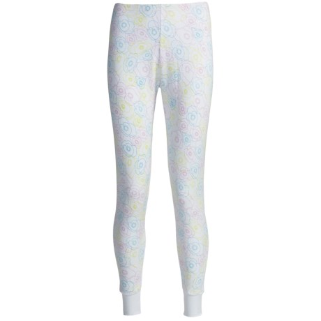 Watson's Waffle-Knit Long Johns (For Women) in White Flower Print