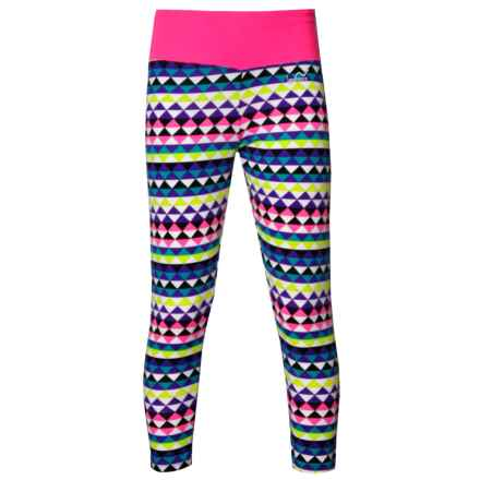 Watson's Active Crop Leggings (For Girls) in Mirror Triangle Print - Closeouts