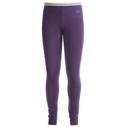 Watson's Brushed Microfiber Base Layer Bottoms (For Little and Big Girls) in Purple/Mauve - Closeouts