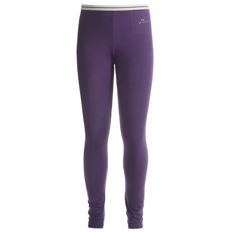 Watson's Brushed Microfiber Base Layer Bottoms (For Little and Big Girls) in Purple/Mauve