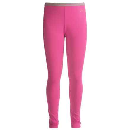 Watson's Brushed Microfiber Base Layer Pants (For Little and Big Girls) in Fuschia - Closeouts