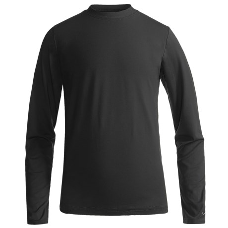 Watson's Brushed Microfiber Base Layer Top - Long Sleeve (For Boys) in Black