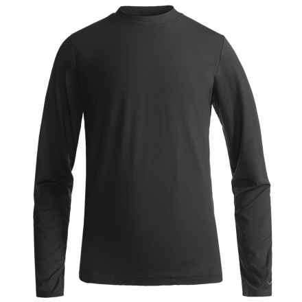 Watson's Brushed Microfiber Base Layer Top - Long Sleeve (For Little and Big Boys) in Black - Closeouts