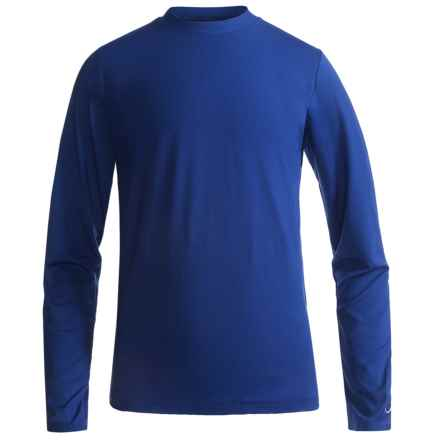 Watson's Brushed Microfiber Base Layer Top - Long Sleeve (For Little and Big Boys) in Royal - Closeouts