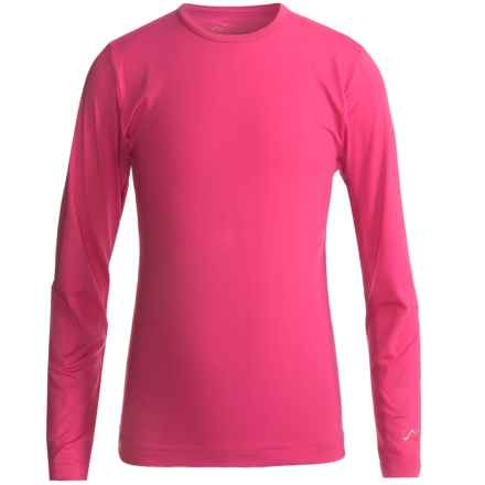 Watson's Brushed Microfiber Base Layer Top - Long Sleeve (For Little and Big Girls) in Fuschia - Closeouts
