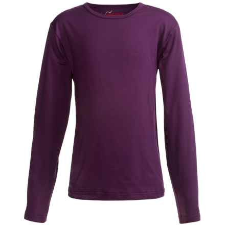 Watson's Brushed Microfiber Base Layer Top - Long Sleeve (For Little and Big Girls) in Purple/Mauve - Closeouts