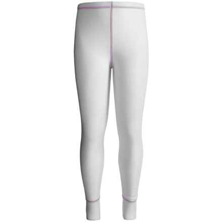 Watson's Double-Layer Base Layer Pants - Heavyweight (For Little and Big Girls) in White - Closeouts