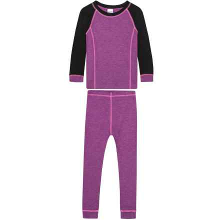 Watson's Double-Layer Heather Purple Base Layer Set - Long Sleeve (For Toddler Girls) in Heather Purple - Closeouts