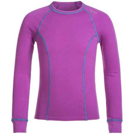 Watson's Double Layer Thermal Shirt - Long Sleeve (For Little and Big Girls) in Bright Purple/Mauve - Closeouts