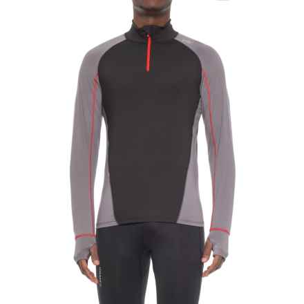 Watson's High-Performance Base Layer Top - Zip Neck, Long Sleeve (For Men) in Black/Grey - Closeouts