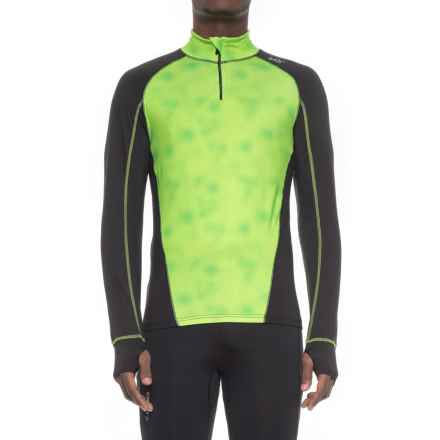Watson's High-Performance Base Layer Top - Zip Neck, Long Sleeve (For Men) in Digital Dot/Black - Closeouts