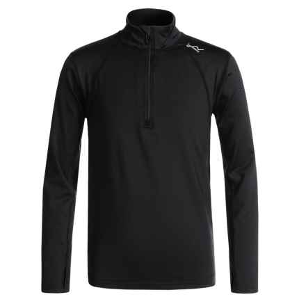 Watson's High-Performance Shirt - Zip Neck, Long Sleeve (For Boys) in Black - Closeouts