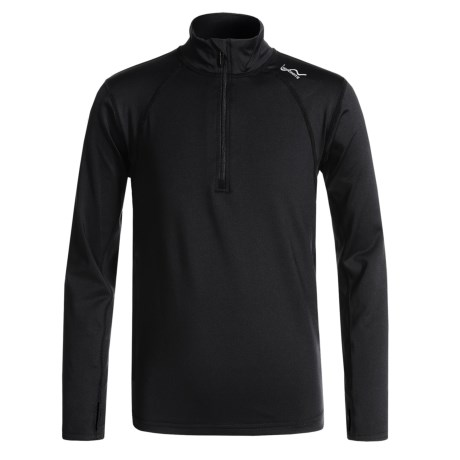 Watson's High-Performance Shirt - Zip Neck, Long Sleeve (For Boys) in Black