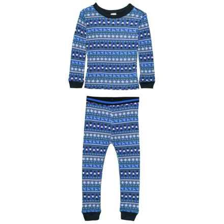 Watson's Interlock Fair Isle Print #33 Soft and Cozy Thermal Underwear Set - Long Sleeve (For Little and Toddler Girls) in Fairisle Print #33 - Closeouts