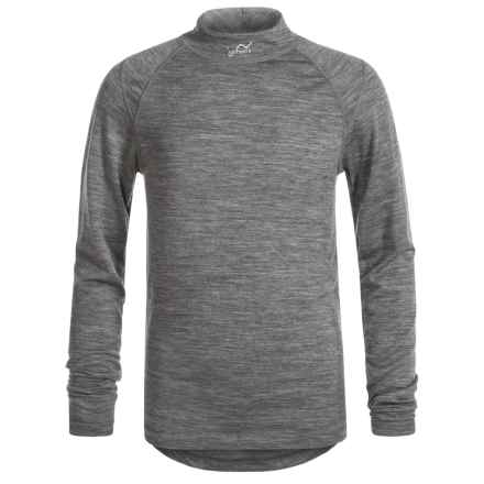 Watson's Merino 150 Thermal Shirt - Merino Wool, Long Sleeve (For Little and Big Boys) in Heather Charcoal - Closeouts