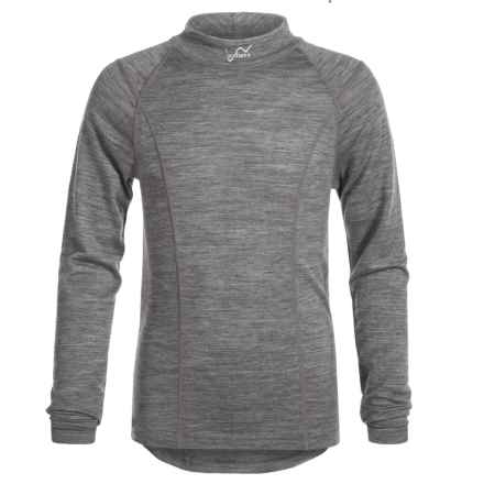 Watson's Merino 150 Thermal Shirt - Merino Wool, Long Sleeve (For Little and Big Girls) in Heather Charcoal - Closeouts