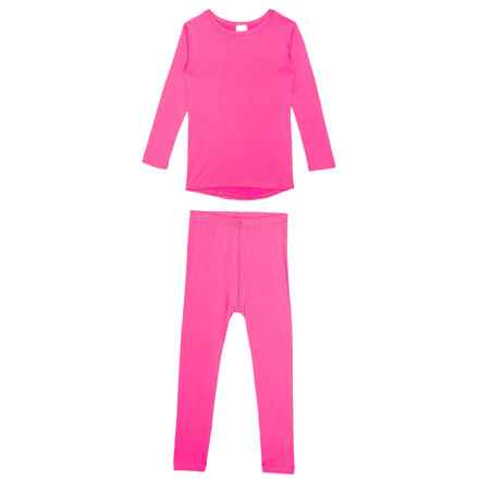 Watson's Neon Pink Thermal Base Layer Set - Long Sleeve (For Toddler Girls) in Neon Pink - Closeouts