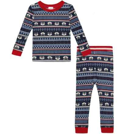 Watson's Raccoon Fair Isle Print Base Layer Top and Pants Set - Long Sleeve (For Infant and Toddler Boys) in Raccoon Fairisle Print - Closeouts
