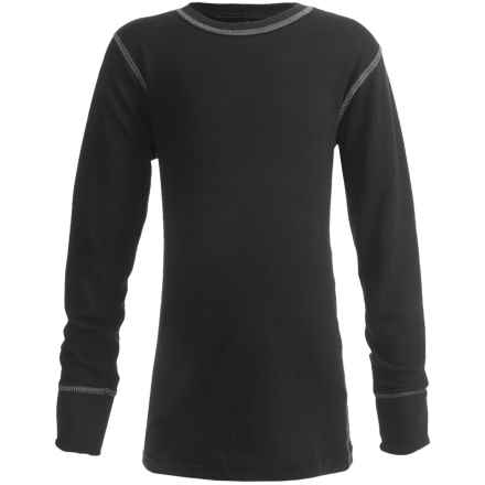 Watson's Watson's Double-Layer Base Layer Top - Heavyweight, Long Sleeve (For Boys) in Black - Closeouts