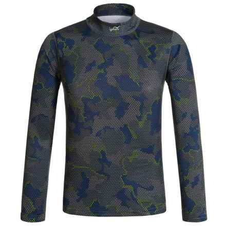 Watson's Watson's High-Performance Thermal Shirt - Long Sleeve (For Little and Big Boys) in Grid Camo - Closeouts