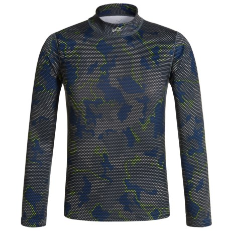 Watson's Watson's High-Performance Thermal Shirt - Long Sleeve (For Little and Big Boys) in Grid Camo