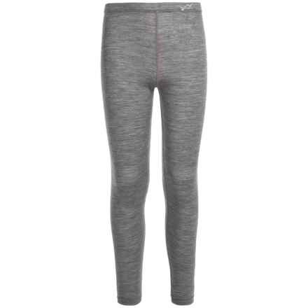 Watson's Watson's Merino 150 Thermal Pants - Merino Wool (For Little and Big Girls) in Heather Charcoal/Charbon Melange - Closeouts