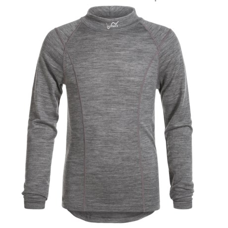 Watson's Watson's Merino 150 Thermal Shirt - Merino Wool, Long Sleeve (For Little and Big Girls) in Heather Charcoal/Charbon Melange