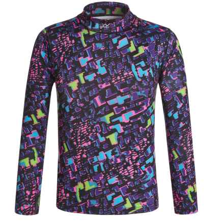 Watson's Watson's Printed High-Performance Thermal Shirt - Long Sleeve (For Little and Big Girls) in Animal Geo Print - Closeouts